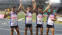 世大運男子400公尺接力第1棒開路先鋒是魏溢慶、第2棒是楊俊瀚,3棒是鄭博宇,最後一棒陳家薰,跑出39.06獲銅牌。(記者邱榮吉/攝影)