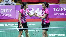 0829世大運羽球女子雙人,中華隊許雅晴、吳玓蓉 圖/記者林敬旻攝