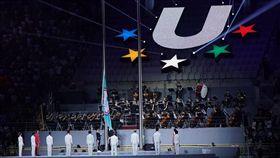 世大運,開幕,世大運中華會旗。(圖/記者林敬旻攝影)