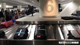 託運行李,行李轉盤。(圖/記者簡佑庭攝)