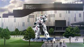 東京台場DiverCity Tokyo購物中心,鋼彈,獨角獸鋼彈。(圖/DiverCity Tokyo 購物中心提供)