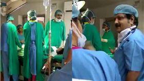 印度,手術,醫師,吵架,爭執,手術,剖腹產,嬰兒,夭折 圖/翻攝自推特