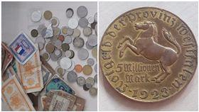硬幣,馬克硬幣,500萬,面額,一戰,第一次世界大戰,通貨膨脹,通膨,貶值,貨幣,德國/polizei_nrw_k推特