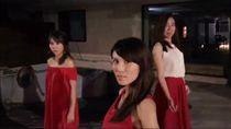 幾位媒體界美女們不計形象,竟在大馬路上模仿起最夯的「抖肩舞」。(圖/翻攝自主播高毓璘臉書)