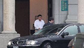 彭勝竹出席國家安全會議後離去