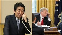 美國總統川普、日本首相安倍晋三/川普、安倍臉書