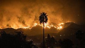 美國洛杉磯有史以來最大野火(圖/翻攝kimnewmoney推特)