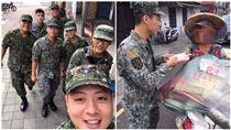國軍,軍人節,陸軍,便當,街友,愛心 圖/翻攝自臉書社團爆料公社