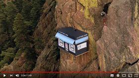 美國,懸崖,登山客,爬山,攀岩,Cliffside Shop,捐款(圖/翻攝自37.5 Technology YouTube)