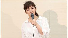 ▲齊藤由貴曾開記者會澄清沒有不倫戀發生。(圖/翻攝週刊女性雜誌)