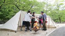 日本東北露營區。(圖/VISIT東北提供)