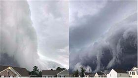 美國喬治亞州海恩斯維爾(Hinesville)一名婦人拍下了灘雲奇景。(圖/翻攝自Johanna Hood Instagram)