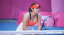 0827世大運網球女雙台灣選手詹詠然。 圖/記者林敬旻攝