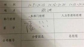 中國大陸,十一長假,請假,年假,出國,滾,經理,假單(圖/翻攝自微博)http://weibo.com/3515267842/FkG8K484S?refer_flag=1001030106_&type=comment#_rnd1504857674130