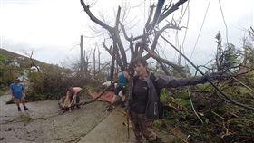 颶風艾瑪(Irma)重創加勒比海地區。(圖/美聯社/達志影像)