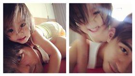 賈靜雯po出修杰楷和女兒咘咘的親密照。(翻攝自賈靜雯臉書)