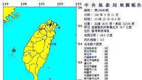 0911地震報告/中央氣象局