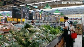 颱風,賣場,囤貨,菜價。(圖/大潤發提供)