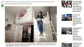 房間,兒童房,攀岩,改造,球框,籃球,Natasha Rojas,Antonio Matus 圖/翻攝自鏡報