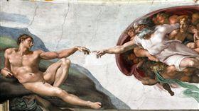 米開朗基羅在梵蒂岡的壁畫《創世紀》(圖/翻攝自維基百科)