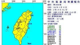 地震,地震報告/中央氣象局