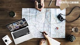 旅遊,地圖,行程規劃。(圖/Skyscanner提供)