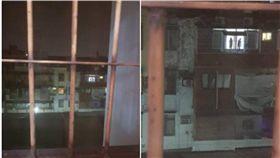 鄰居,雨衣,晾衣服,鬼月,嚇人,爆料公社,窗戶,陽台 圖/翻攝自爆料公社