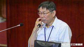 台北市市長柯文哲赴台北市議會備詢進行施政報告 圖/記者林敬旻攝