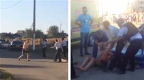 俄羅斯嫌18月大姪孫女太吵 精神病患砍下她頭顱上街揮舞(圖/翻攝自YouTube)