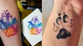 刺青,寵物,腳印,腳掌,去世,汪星人,毛孩,狗狗,紀念 圖/翻攝自IG