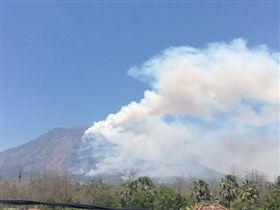 阿貢火山,峇里島疏散,翻攝推特