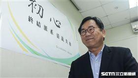 民進黨立委陳明文25日出面回應張花冠性騷擾事件 圖/記者林敬旻攝