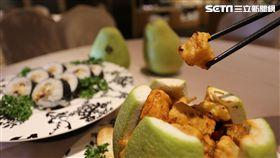 中秋柚子、月餅新吃法。(圖/福容大飯店提供)
