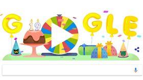 google 幸運轉盤 翻攝網頁 Doodle