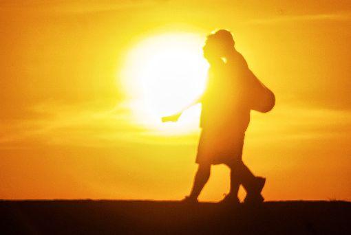 秋老虎發威 台北飆38.6度高溫(1)秋老虎持續發威,台北27日氣溫最高一度飆至攝氏38.6 度,全國最高用電量創下歷年次高紀錄,備轉容量率3.61%,亮供電警戒橘燈。中央社記者裴禛攝 106年9月27日