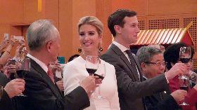 伊凡卡夫婦現身中駐美使館十一酒會不喝