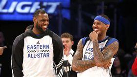 LeBron James與Carmelo Anthony(ap)