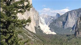 美國,加州,優勝美地國家公園,酋長岩,El Capitan,山崩,山難,Yosemite National Park(推特)