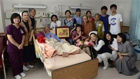 癌末病患蔡阿公慶90歲生日,堅定捐大體心願。(圖/翻攝大林慈濟醫院網站)