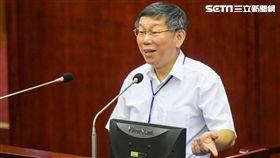 台北市長柯文哲2日赴市議會專案報告 圖/記者林敬旻攝