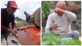 回來一個也好…老夫妻親磨辣醬 6兒女「中秋不回家」哭了 圖/翻攝自新明日報臉書