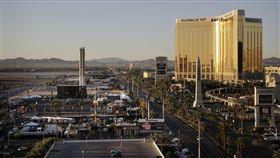 拉斯維加斯,槍擊,賭客,賭城,屠殺,氣氛,低迷 (圖/美聯社/達志影像)