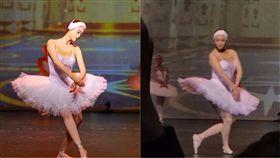 蔣欣跳芭蕾舞。(合成圖/翻攝自蔣欣微博、孫世曼微博)