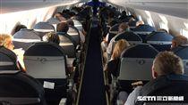 機艙,單走道客機,飛機,航空。(圖/記者簡佑庭攝)