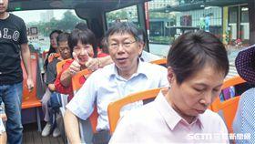 台北市長柯文哲出席銀髮族觀光巴士記者會 圖/記者林敬旻攝