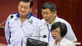 台北市體育局長鄭芳梵,秘書長蘇麗瓊 圖/記者林敬旻攝