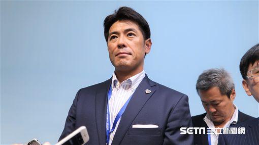 日本武士監督稻葉篤紀。(圖/記者王怡翔攝)