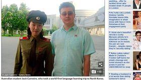 16:9 北韓妹也CCR?澳洲宅宅遊朝鮮 爽喊:我被人搭訕啦! 圖/翻攝自每日郵報 http://www.dailymail.co.uk/news/article-4920308/Australian-student-says-education-better-North-Korea.html