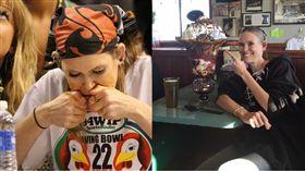 Molly Schuyler Competitive Eater 臉書 百秒吞7漢堡!美女大胃王破世界紀錄 背後原因有洋蔥