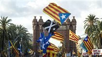 加泰隆尼亞,獨立公投,西班牙(圖/美聯社/達志影像)